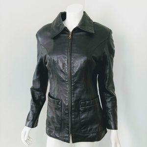 Wilsons Pelle Leather Full Zip Leather Jacket.